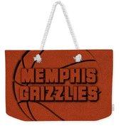 Memphis Grizzlies Leather Art Weekender Tote Bag