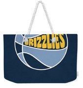 Memphis Grizzlies Vintage Basketball Art Weekender Tote Bag
