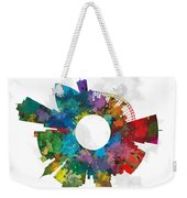 Memphis Small World Cityscape Skyline Abstract Weekender Tote Bag
