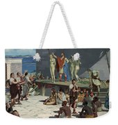 Men Bid On Women At A Slave Market Weekender Tote Bag