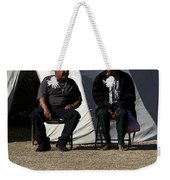 Men Talking Weekender Tote Bag