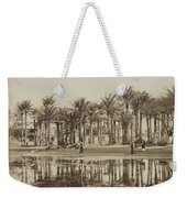 Men With Goats Under Palm Trees On The Water In Bedrechen, Bonfils, C. 1895 - In Or Before 1905 Weekender Tote Bag