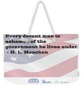 Mencken Quote 3 Weekender Tote Bag