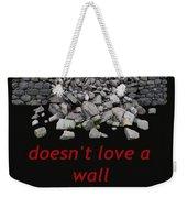 Mending Wall Transparent Background Weekender Tote Bag