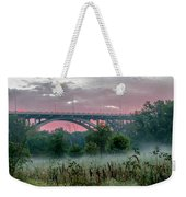 Mendota Bridge Sunrise Weekender Tote Bag