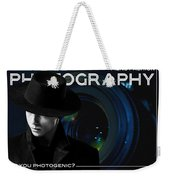 Mens Fashion Photography Are You Photogenic Weekender Tote Bag