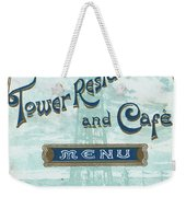 Menu For Lunch At Blackpool Tower Restaurant Weekender Tote Bag