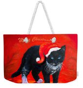 Meow Christmas Kitty Weekender Tote Bag