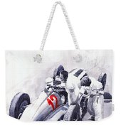 Mercedes Benz W125 Rudolf Caracciola The German Grand Prix Nurburgring 1937  Weekender Tote Bag