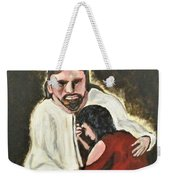 Mercy, No Sin To Great Weekender Tote Bag by Clyde J Kell