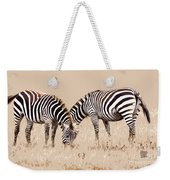 Merging Zebra Stripes Weekender Tote Bag