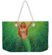 Mermaid Art- Mermaid's Starlight Weekender Tote Bag