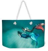 Mermaid Friends Weekender Tote Bag