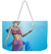 Mermaid In Aqua Weekender Tote Bag