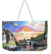 Mermaid Lagoon Weekender Tote Bag