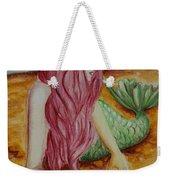 Mermaid On Sand With Heart Weekender Tote Bag