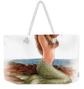 mermaid On The Shore Weekender Tote Bag