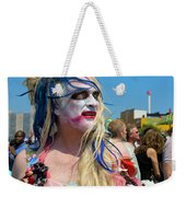 Mermaid Parade Man In Coney Island Weekender Tote Bag