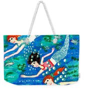 Mermaid Race Weekender Tote Bag by Sushila Burgess