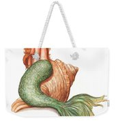 Mermaid Shell Weekender Tote Bag