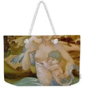 Mermaid With Her Offspring Weekender Tote Bag