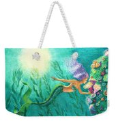 Mermaid's Garden Weekender Tote Bag