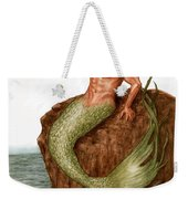 Merman On The Rocks Weekender Tote Bag