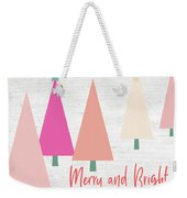 Merry And Bright Trees- Art By Linda Woods Weekender Tote Bag