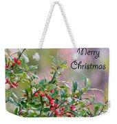 Merry Christmas - Berries Weekender Tote Bag