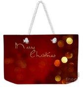 Merry Christmas Card - Bokeh Weekender Tote Bag