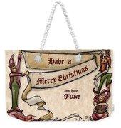 Merry Christmas Elves Weekender Tote Bag