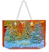 Merry Christmas Polar Bears Weekender Tote Bag