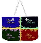 Merry Christmas Pop Art Weekender Tote Bag