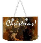 Merry Christmas Reindeer 2 Weekender Tote Bag
