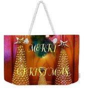 Merry Christmas Trees Colorful Weekender Tote Bag