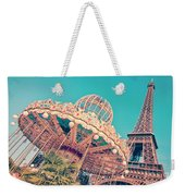 Merry Go Paris Weekender Tote Bag by Delphimages Photo Creations