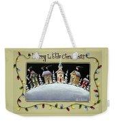 Merry Little Christmas Hill Weekender Tote Bag
