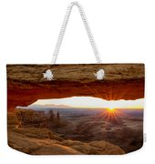 Mesa Arch Sunrise - Canyonlands National Park - Moab Utah Weekender Tote Bag by Brian Harig