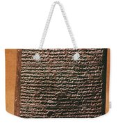 Mesopotamian Cuneiform Weekender Tote Bag