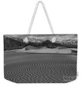 Mesquite Dunes Black And White Weekender Tote Bag