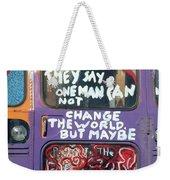 Message From Santa Fe Weekender Tote Bag