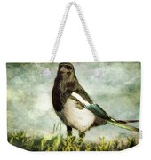 Message From The Magpie Weekender Tote Bag by Belinda Greb
