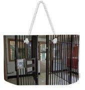 Metal Bars Leading Into Cellblock In Prison Weekender Tote Bag