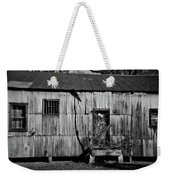 Metal Building On The Grounds At Fort Delaware Near Delaware City Weekender Tote Bag