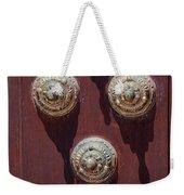 Metal Door Ornaments Weekender Tote Bag