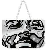 Metal Face 2 Weekender Tote Bag by Darren Cannell