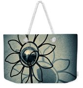 Metal Flower Weekender Tote Bag