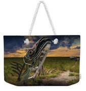 Metal Monster Emerging From The Earth Weekender Tote Bag