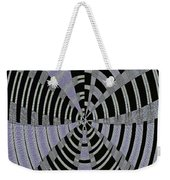 Metal Panel With Holes Abstract #3 Weekender Tote Bag