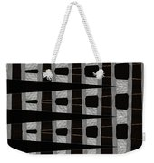 Metal Panel With Holes Abstract Weekender Tote Bag